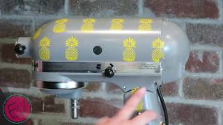 How to add vinyl to a kitchen mixer.