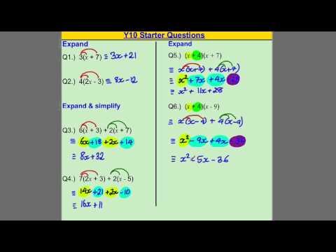 Y10 Maths Homework / Starter (Core GCSE Skills)