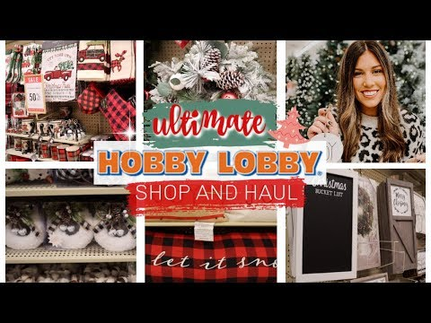 HOBBY LOBBY CHRISTMAS SHOP WITH ME 2019! | FARMHOUSE CHRISTMAS DECOR HAUL