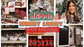 HOBBY LOBBY CHRISTMAS SHOP WITH ME 2019!   FARMHOUSE CHRISTMAS DECOR HAUL