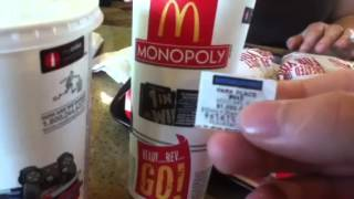 McDonald's Monopoly 20th edition, Test my luck.