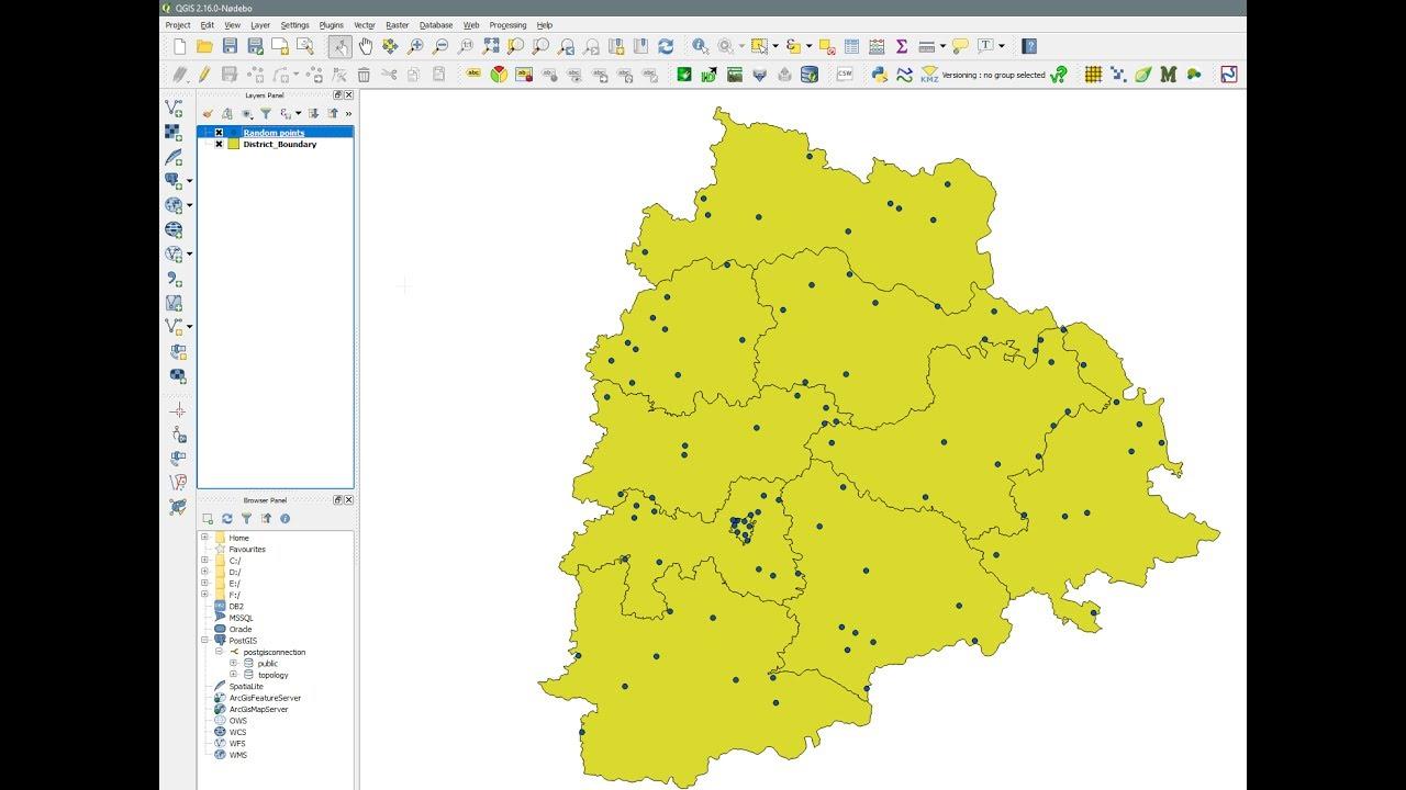 QGIS - Random Points Inside Polygon - create single or multiple ...