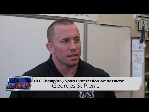 George St Pierre speaks with Students in Kahnawake about bullying