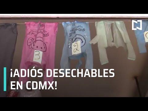 Prohibidos plásticos desechables en CDMX - Las Noticias con Carlos Hurtado