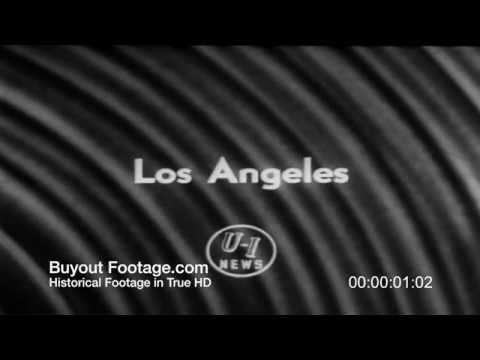 HD Stock Footage Los Angeles Rams vs Redskins 1957 Newsreel