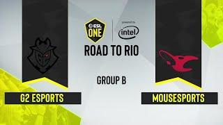 CS:GO - mousesports vs. G2 Esports [Dust2] Map 3 - ESL One: Road to Rio - Group B - EU