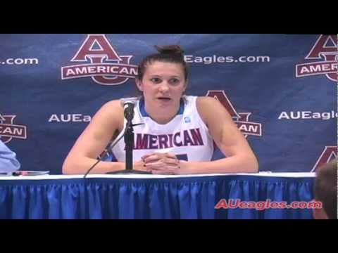 Strack Leads Women's Basketball Past Navy In PL Title Game Rematch - American University Eagles
