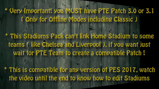 [PES 2017] Stadiums Pack for PTE Patch + Examples (by DonyAvia)