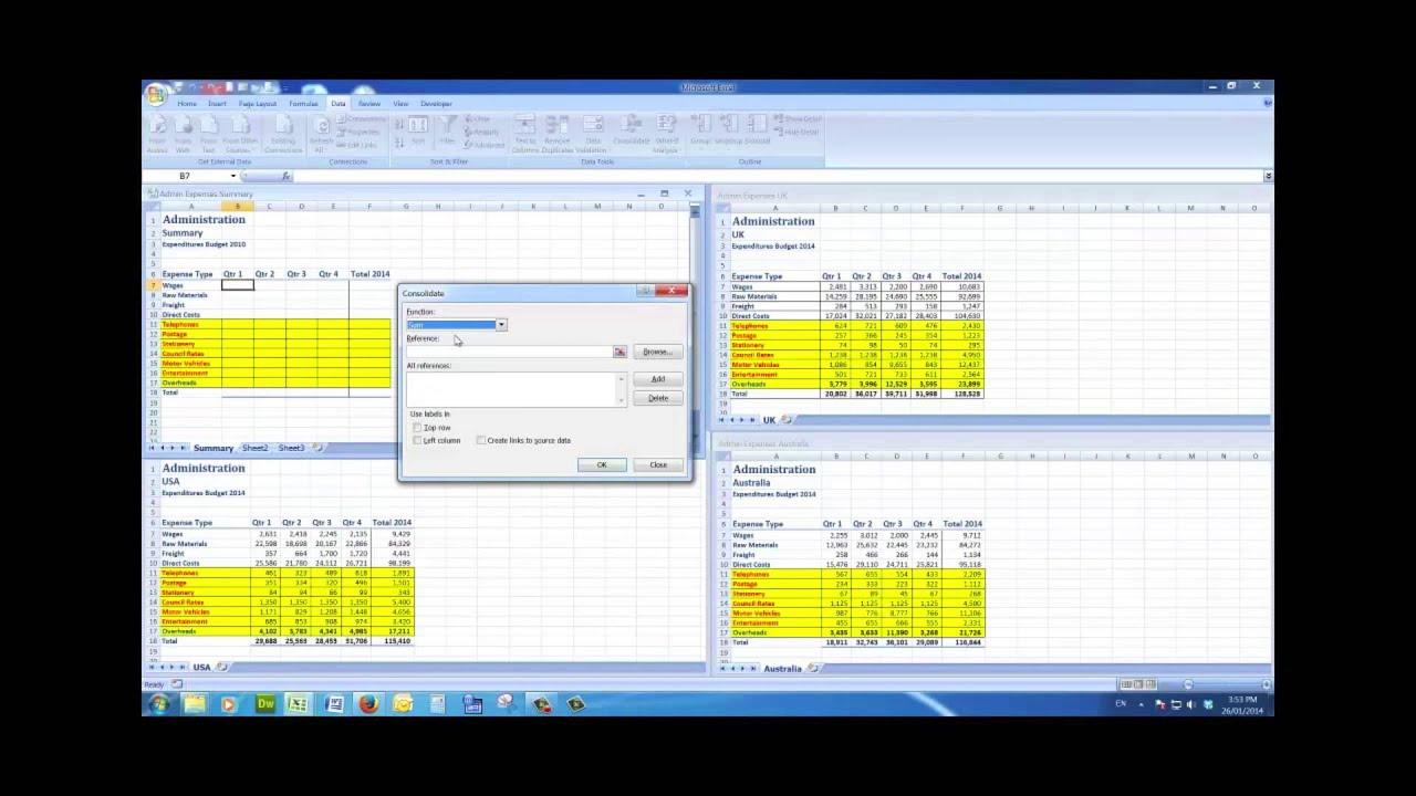 worksheet Merge Excel Files Into One Worksheet merge consolidate multiple excel files into a summary file view 1080p full screen youtube