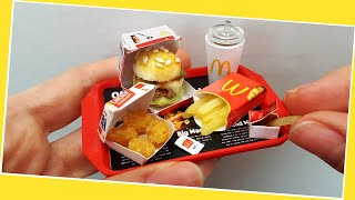Mini but REAL McDonald's meal with nuggets, fries and ketchup / When You are on a diet :) ASMR
