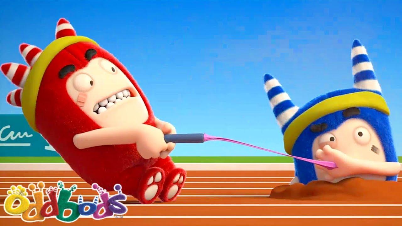 Race To The Finish Line! | Oddbods | BARU | Kartun Lucu Untuk Anak