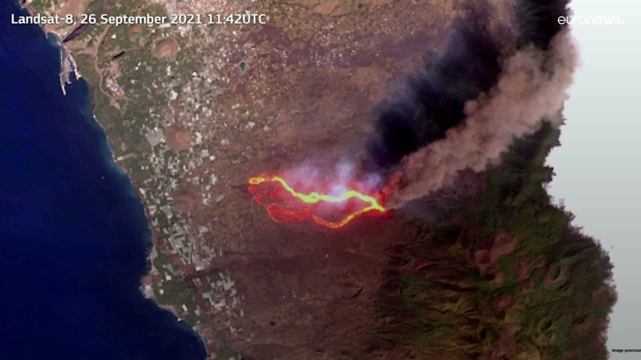 Download Las imágenes por satélite, clave en la gestión de la crisis del volcán de La Palma