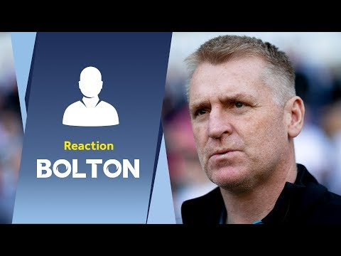 Dean Smith's Bolton reaction: Proud to match record