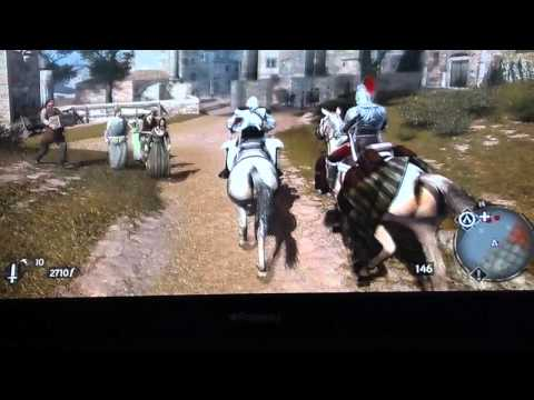 Assassins Creed Brotherhood:  Getting the Scimitar and Hidden Weapon rack in the Hideout |