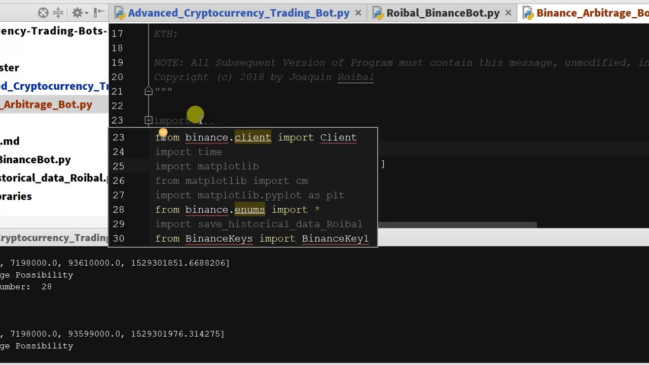 Crypto Triangular Arbitrage in Binance With Python 1 - Live Coding