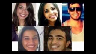 Homenagem aos 5 jovens que morreram