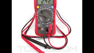 HOW TO MEASURE AC and DC voltage with a multimeter