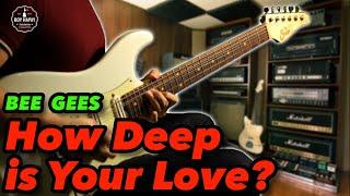 Bee Gees How Deep Is Your Love Female Key instrumental guitar karaoke cover with lyrics