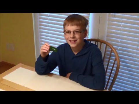 11-yr-old eats nasty hot Jalapeño pepper : Hot Pepper Challenge, Crude Brothers