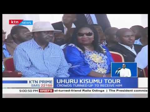 President Uhuru Kenyatta receives hero welcome in Kisumu County