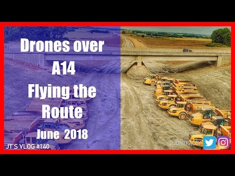 Drones over A14 - Flying the Route- June 2018