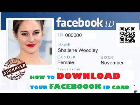 HOW TO DOWNLOAD FACEBOOK ID CARD - YouTube