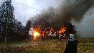 Chińczyk spalił sobie chatę.  MOCNEE !!