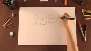 Cómo dibujar nombres con estilo graffiti
