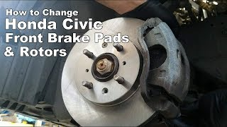 How To Change Front Brake Pads and Rotors Honda Civic 1994-2000