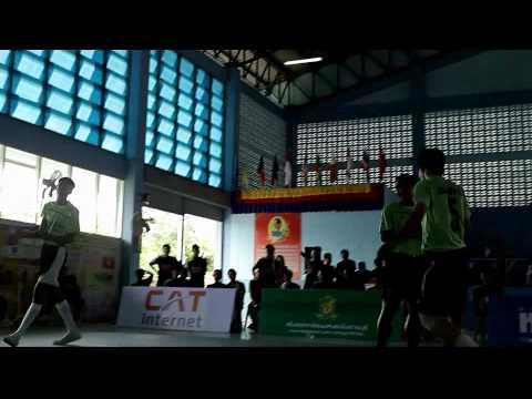 การแข่งขันตะกร้อลีกชมสังกัดสโมสรตะกร้อนมหนองโพราชบุรีครั้งที่ 3 สนามที่ 1 ชมรมเพื่อนรักษ์ตะกร้อ