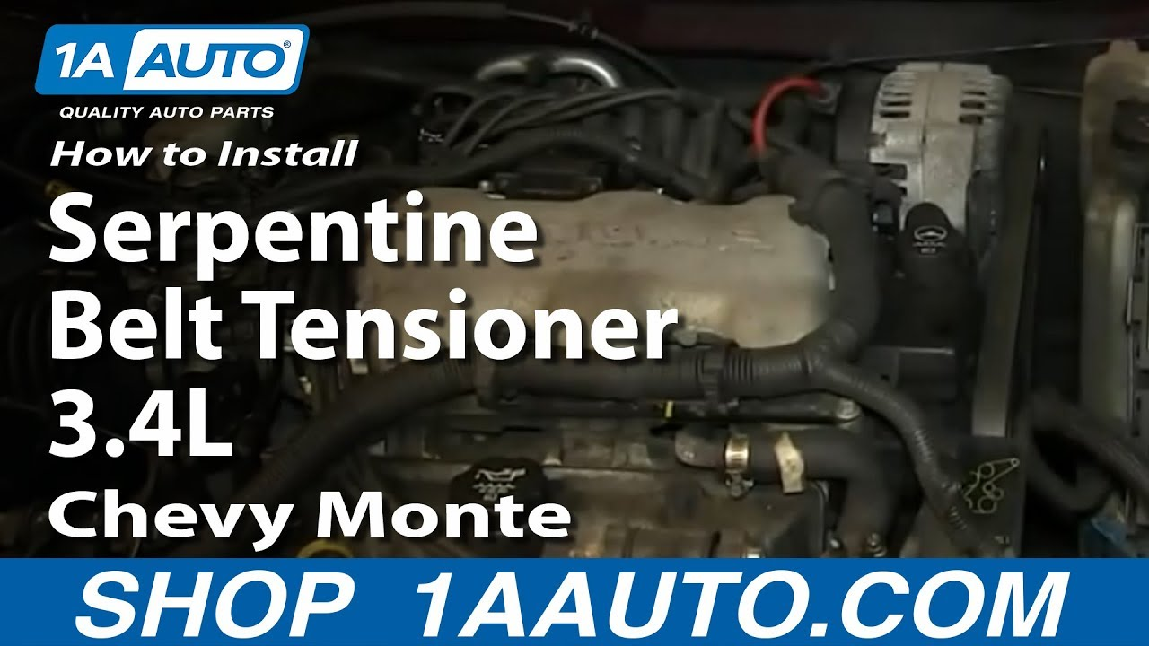1994 3 8 liter gm engine diagram how to replace serpentine belt tensioner 95 05 chevy monte  how to replace serpentine belt tensioner 95 05 chevy monte