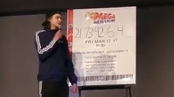 Mind Blowing LOTTERY Prediction! Student predicts LOTTERY NUMBERS at School Talent Show!