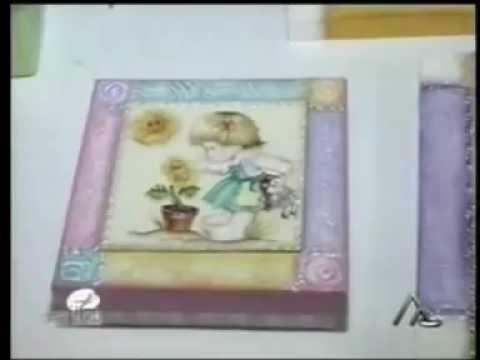 Quadro infantil com textura e decoupage youtube - Papel decoupage infantil ...
