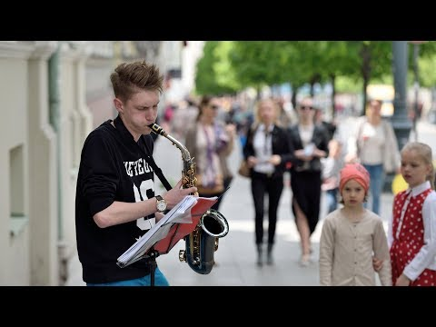 Top 10 AMAZING Street Performers Musicians Saxophone [NEW HD