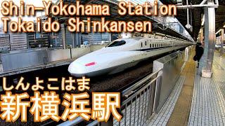 東海道新幹線 新横浜駅に登ってみた Shin-Yokohama Station. JR Tokai Tokaido Shinkansen