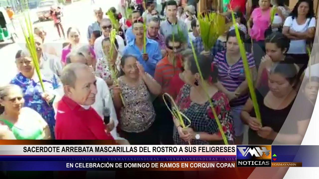 Sacerdote hondureño quita las mascarillas a sus feligreses