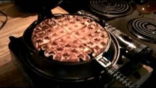 Cast Iron Waffle Iron Waffles
