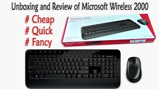 Review of Amazing Microsoft Wireless 2000 Bluetooth Keyboard and mouse