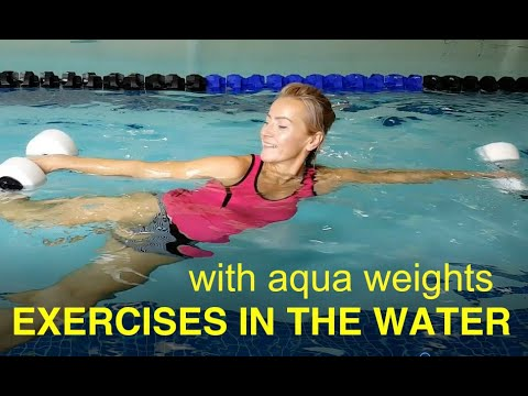 Water Exercises With Aqua Dumbbells