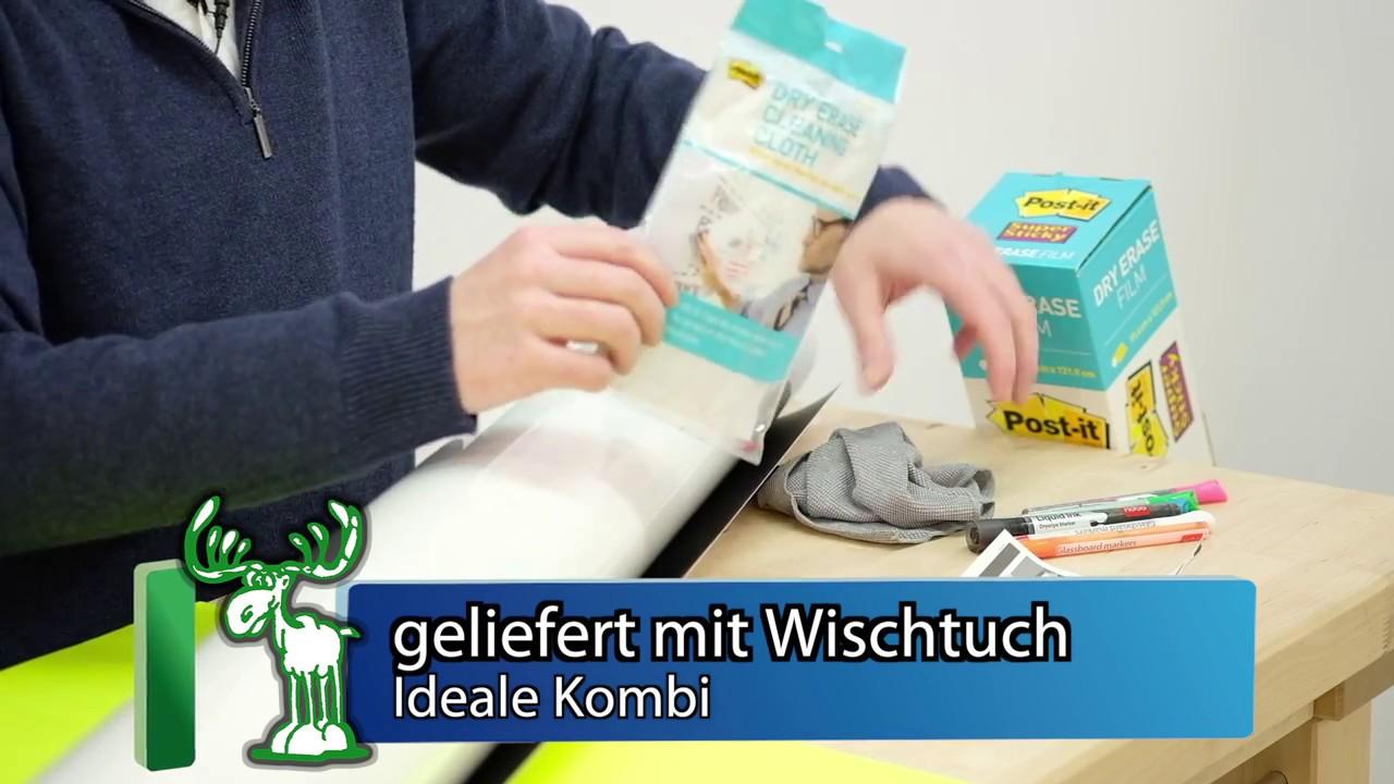 Dryerasefilm Das Whiteboard Zum Kleben 3m