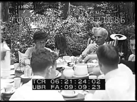 Henry Ford, Harvey Firestone, Thomas Edison & Families 221686-03 | Footage Farm