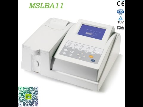 HD Operation video of semi automatic biochemistry analyzer MSLBA11 with reagents