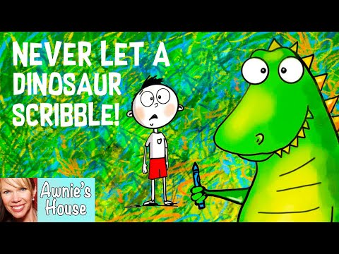 🦖 Kids Book Read Aloud: NEVER LET A DINOSAUR SCRIBBLE by Diane Alber