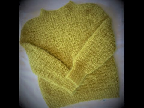Knit Light Mohair Sweater. Step 1, The Body.