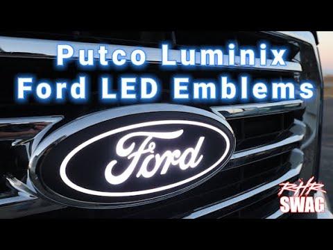 Putco 92801 Luminix Ford Led Emblems Front White Luminix Ford Led Emblems