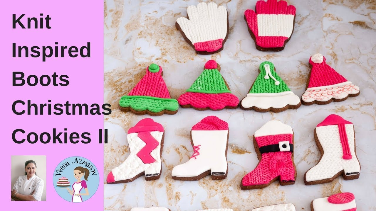 boots christmas cookies with fondant cookie decorating tutorial