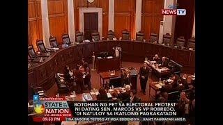 SONA: Botohan ng PET sa electoral protest ni dating Sen. Marcos vs VP Robredo, 'di natuloy sa..