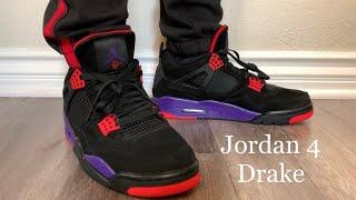 on sale 4b689 abcc8 Jordan 4 Raptors Drake OVO 2019 On-feet + Sizing