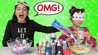 Elena Cheated!!! Blindfolded Slime Challenge!