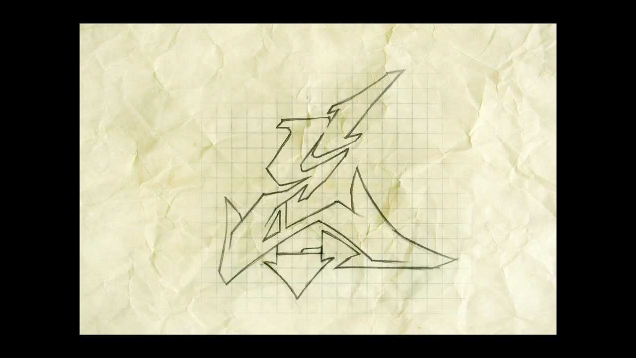 How to make a Wildstyle graffiti letter HD - YouTube